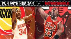 Nba Jam, Houston Rockets, Chicago Bulls, Arcade Games, Gaming, Retro, Videos, Youtube, Fun