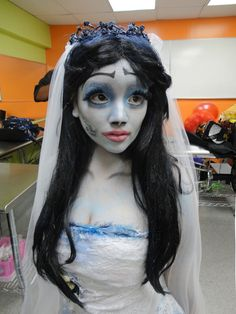 Emily from Corpse Bride (I love the white on the inside of the eyes to make her eyes look HUGE!)