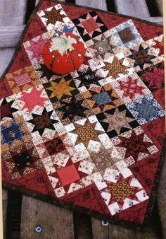 Modèle--Primitif petite étoile mini quilt 12 x 14 pouces par pays Threads