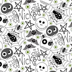 Make it in Design | Cavell Ferguson | #Halloween Pattern | http://makeitindesign.com/blog/2015/10/28/spooky-showcase-of-pattern-part-1/