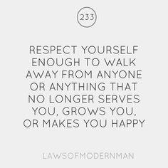 respect yo self