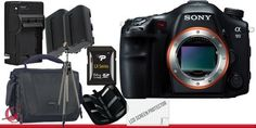 Sony SLT-A99 DSLR Digital Camera Body 64GB Package by Sony. $2809.58. Package Contents:  1- Sony Alpha SLT-A99 DSLR Digital Camera (Body Only) with all supplied accessories 1- 64GB SDXC Class 10 Memory Card 1- Rapid External Ac/Dc Charger Kit   1- USB Memory Card Reader  2- Rechargeable Lithium Ion Replacement Battery  1- Weather Resistant Carrying Case w/Strap  1- Pack of LCD Screen Protectors  1- Camera & Lens Cleaning Kit System  1- Memory Card Wallet 1- Professional Full Si...