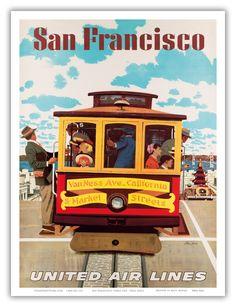 Tranvía de San Francisco CA 1957, USA