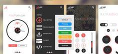 Mobile App UI Concept (PSD) #FreePsd from http://ortheme.com