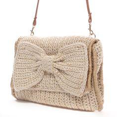 kakatoo crochet clutch bag