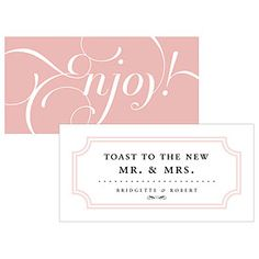 Expressions Small Ticket Harvest Gold Text With White Background (Pack of Wedding Themes, Wedding Events, Wedding Reception, Our Wedding, Wedding Ideas, Wedding Stuff, Wedding Inspiration, Drink Ticket, Wedding Stationary
