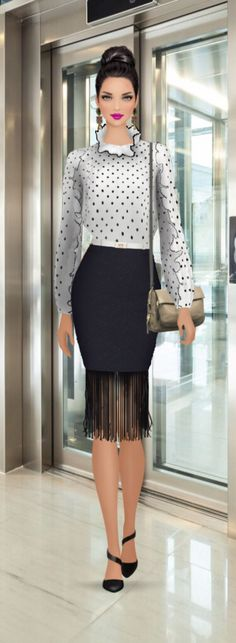"Covet Fashion Game ""Work Quirk"" Styling Challenge Styling by: Candy Eckart ☮★ DiamondB! Pinned ★☮"