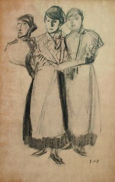 Drie vrouwen George Hendrik Breitner
