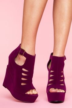 Garcelle Cutout Wedge - Wine Velvet  $100.00  want. wanT. waNT. wANT. WANT!!!