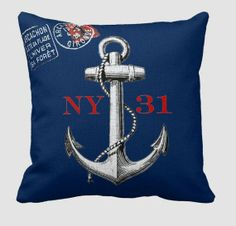 Nautical Decor Pillow