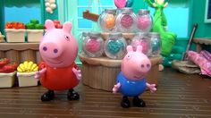 Peppa Pig in English. Peppa and her friends are playing in shop. Peppa P...