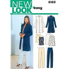 6340 MISSES/'s facile abiti Sewing Pattern NEW LOOK 4 Stili Taglie 8-20
