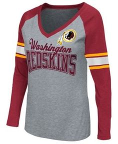 G-iii Sports Women's Washington Redskins In the Zone Long Sleeve T-Shirt - Red XXL