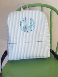 ADORABLE toddler backpack! We have two of these and my kids adore them! Monogrammed Toddler Backpack/Small Day pack