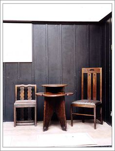 Charles Rennie Mackintosh: Love the vertical-panel laquered wood walls.