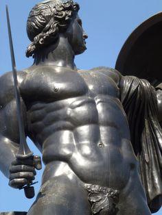 Achilles Greek Warrior in Hyde Park. Libido News: http://pub.lucidpress.com/LibidoMagazineApril2015/