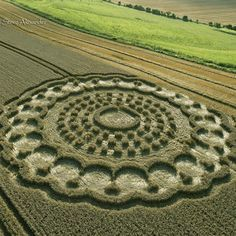 Crop circles 2013, real crop circle, photo