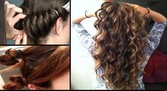 Curl your hair easily in 5 minutes,without using heat or curl rollers! | Trend Crown