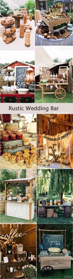 Rustic country wedding bar decor ideas / http://www.deerpearlflowers.com/rustic-wedding-details-and-ideas/2/