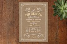 Vintage/Rustic Save the Date Cards