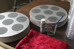 DIY cardboard film reel totally doable and inexpensive for part of centerpieces