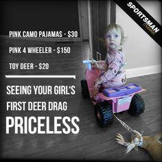 Future Hunter! #YouthHunter #Hunting #PinkCamo #DeerDrag