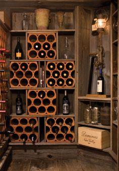 cave-vin-domicile-support-bouteilles-bois-design-élégant cave à vin