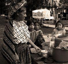 'Atitlan' © RicardMN Photography.  Woman and little girls in Santiago Atitlan, Guatemala.