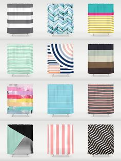 Society6 Striped Curtains - Add a bold statement to your bathroom with Society6 Shower Curtains. Want more? We also have bath mats and towels!