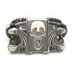 Now available in our store Skull Metal fashi.... Check it out here! http://everythingskull.com/products/skull-metal-fashion-lighter-belt-buckle-fit-4cm-wide-belt?utm_campaign=social_autopilot&utm_source=pin&utm_medium=pin
