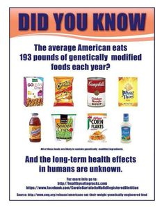 GMOs!!! How much do you eat in a year? Know the companies that paid to keep you from knowing what's in your food. http://DrHardick.com #GMO