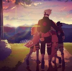 Sakura, Kakashi, Naruto and Sasuke - Team 7 Anime Naruto, Manga Anime, Art Naruto, Naruto Shippuden Anime, Sarada Uchiha, Fanarts Anime, Sasunaru, Naruhina, Narusasu