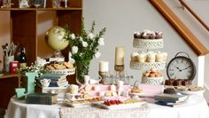 table of goods.  Katie Rebecca Lifestyle Events and Styling | Vendors & Venues | 100 Layer Cake