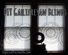 Beautiful DIY Doctor Who Window Blinds