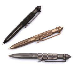 Outdoor Handig En Gemakkelijk Te Zwart Tactical Pen Glas Breaker Zelfverdediging Emergency Survival Tool 2016 Drop Verzending