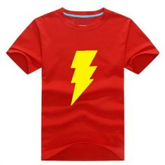 Lightning LOGO Print Short-sleeve Unisex T-Shirt - Super Hero Tees For Men & Women-Campaign Categories - TopBuy.com.au