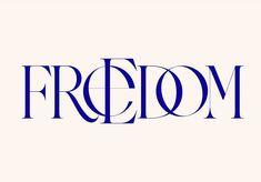 "kissmiklos auf Instagram: ""Freedom • • • • • #typography #lettering #logotype #logodesigner #handlettering"