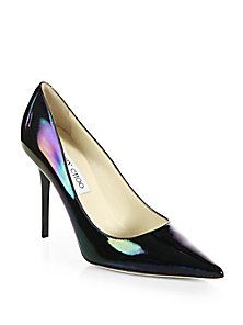 Jimmy Choo - Abel Hologram Patent Leather Pumps Only Shoes 1e45fa5479