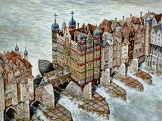 This image of the old London Bridge shows why it was so common for the Thames to freeze over. http://londonparticulars.files.wordpress.com/2010/01/londonbridge.jpg
