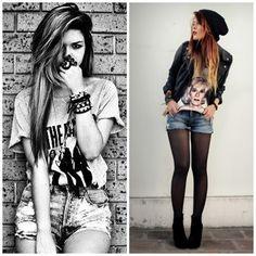 shorts and boots rocker image  | mostrarei para vocês alguns estilos com saias,short jeans e boots ...
