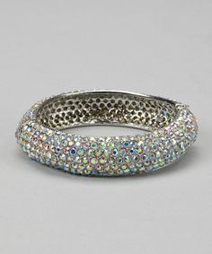 Take a look at this Silver Sparkle Bangle by Moda Designs on #zulily today!