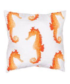 Look at this #zulilyfind! Orange Sea Horse Veranda  Throw Pillow - Set of Two #zulilyfinds