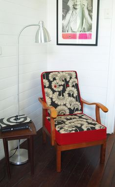 Parker-Knoll Florence Chair by Flourish and Blume via DTLL Funky Furniture, Upcycled Furniture, Furniture Makeover, Vintage Furniture, Chair Upholstery, Chair Fabric, Upholstered Chairs, Parker Knoll Chair, Vintage Chairs