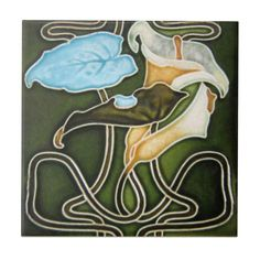 AN098 Art Nouveau Reproduction Antique Tile