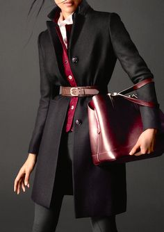 Belted coat | fall style.