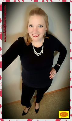Another holiday look featuring bold, statement jewelry on the blog today!