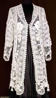 Irish Crochet Lace Coat
