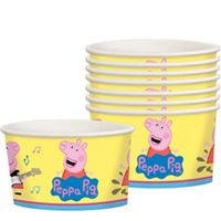 Treat everyone to something sweet in Peppa Pig Treat Cups! These light yellow paper cups have a wraparound print of Peppa and George. Use them as party containers for ice cream, bite-sized snacks, or craft supplies at your party. Pig Ice Cream, Ice Cream Party, Peppa Pig Party Supplies, Party Tableware, 4th Birthday, Birthday Decorations, Dog Bowls, Party Favors, Craft Supplies