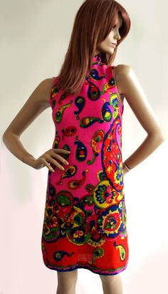 Psychedelic vintage 1960s Miss Impact boutique by MissPeelpants, £65.00