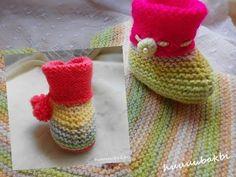 haroşa kolay bebek botu/patiği baby knit slippers